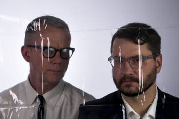 Martin Schmidt (left) and Drew Daniel, of Matmos