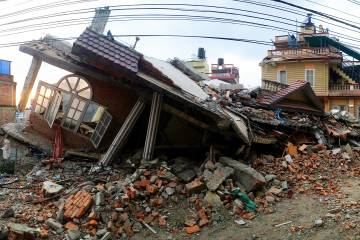 Damage from earthquake