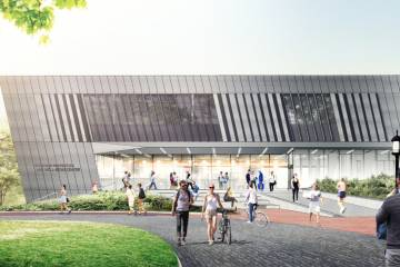 Concept art for the Ralph S. O'Connor Center for Recreation and Well-Being