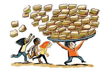 Illustration of sandwiches