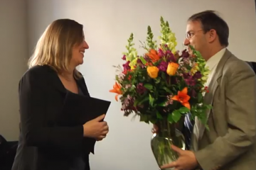 Sharon Gerecht receives inaugural President's Frontier Award