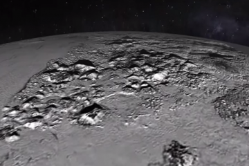Animated flyover of Pluto's plains