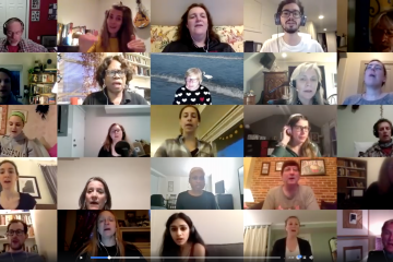 Peabody Community Chorus rehearses on Zoom conference call