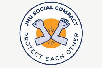 JHU Social Compact logo