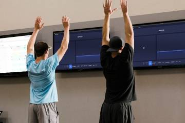 Athletes use the Sparta Science interface