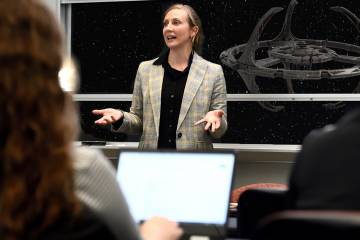 Darcie Draudt teaches Star Trek and Diplomacy Intersession class