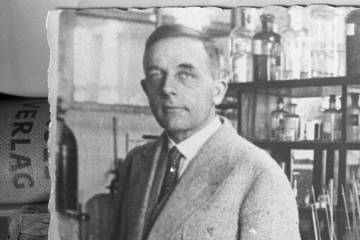 Detail from photograph of Otto Warburg