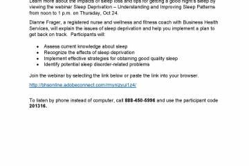 Wellness Webinar: Sleep Deprivation – Understanding and Improving Sleep Patterns