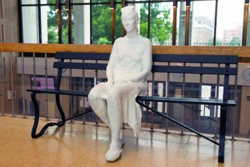 Anonymous ode to a muse found in hands of MSE Library sculpture