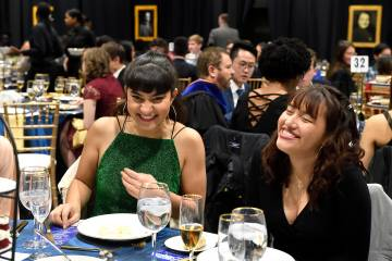 Students celebrate at First Year Banquet