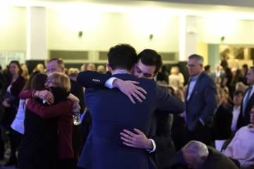 Men hug