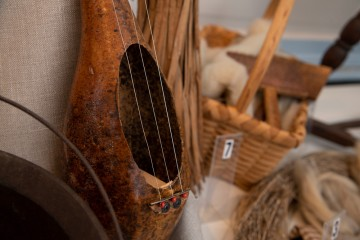 Wooden string instrument detail