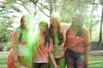 Students participate in Hopkins Holi
