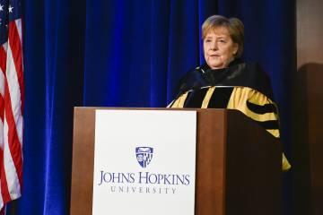 Angela Merkel receives honorary degree