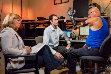 Johnny Matheny tests the Modular Prosthetic Limb