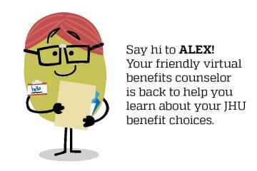 Cartoon character representing ALEX