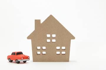 Miniature house and car
