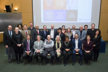 A group photo of symposium presenters