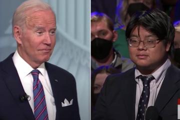 Kobi Khong poses question to President Joe Biden