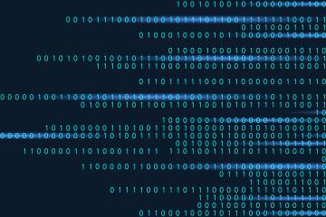 Illustration of computer binary code