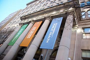 Facade of the Bloomberg School