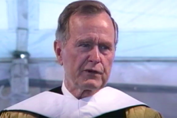President George H.W. Bush speaks at Johns Hopkins commencement