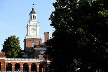 Photo of the Gilman Hall clock tower