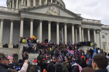 Rioters storm the U.S. Capitol building on Jan. 6, 2021