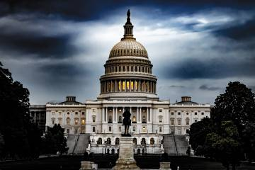 Dramatic photo of U.S. Capitol Building
