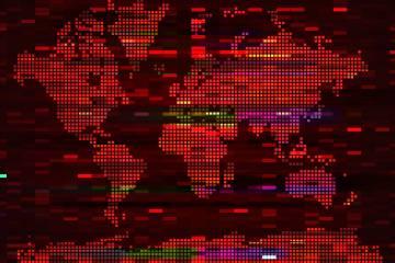 Digital world map