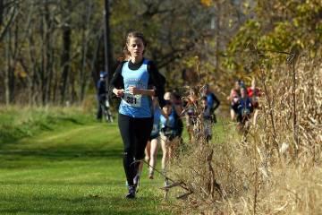 Felicia Koerner runs cross country
