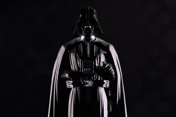 Image shows Darth Vader in all black