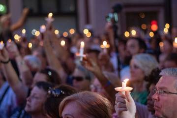 A vigil for the victims of the shooting in Dayton, Ohio