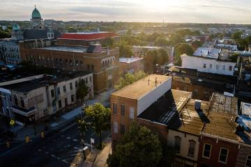 East Baltimore aerial view