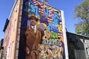 Photo of Elijah Cummings mural