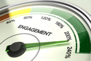 Hand on engagement dial points to 210%
