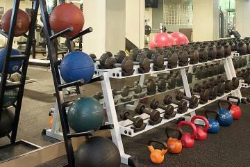 Strength-training equipment at the Mount Washington Fitness Center