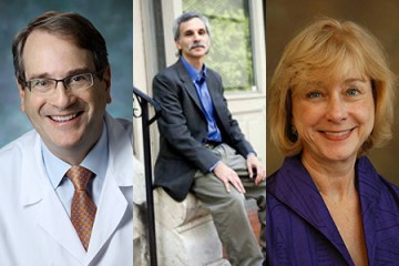 Winners of the Faculty Mentoring Awards (from left) Henry Brem, Carl Latkin, and Cynthia Rand