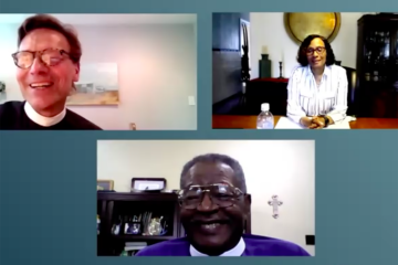 Three faith leaders join a Zoom call