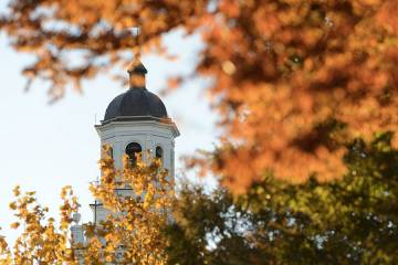 Gilman dome and fall foliage