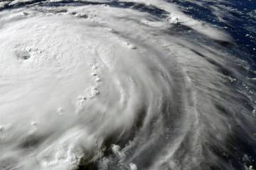 Hurricane as seen from NASA satellites