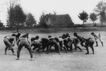 Historical photograph of the first UGA-Auburn football game