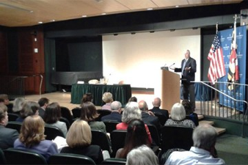 Henry Waxman speaks at mental health policy forum