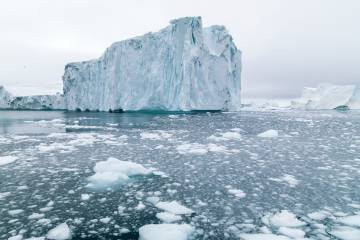 Melting glacier in Greenland
