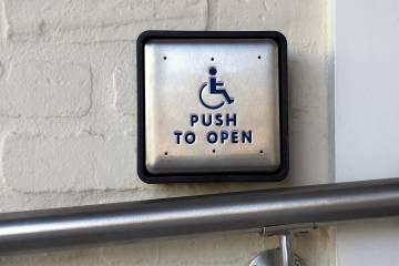 Automated handicap door opener