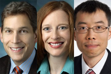 Individual Biomedical Research Award winners (from left) Samuel M. Alaish, Jill A. Fahrner, and Ho Lam Tang