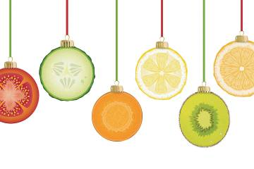 Christmas ornaments that look like fruit slices