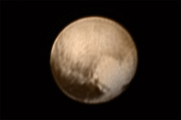 View of Pluto sent from New Horizons spacecraft on July 7, 2015