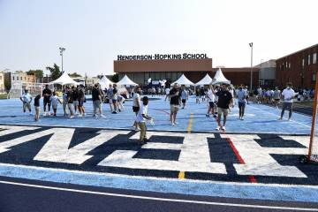 Grand opening of the track at Henderson-Hopkins