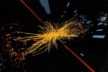 Higgs boson sample collision